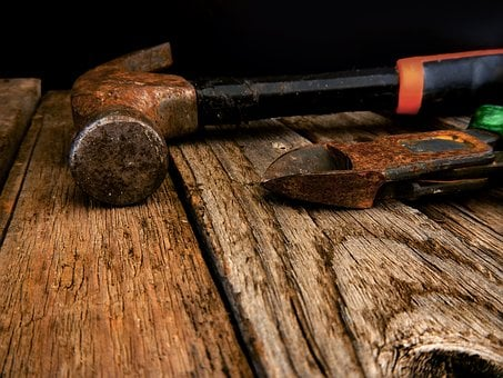 Tools, Hammer, Workshop, Rust