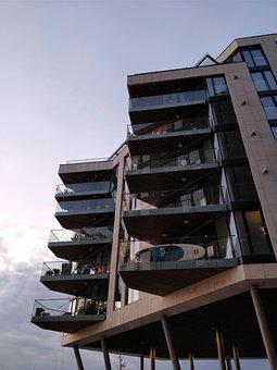 Oslo, Tjuvholmen, Architecture, Home, Balcony, Modern