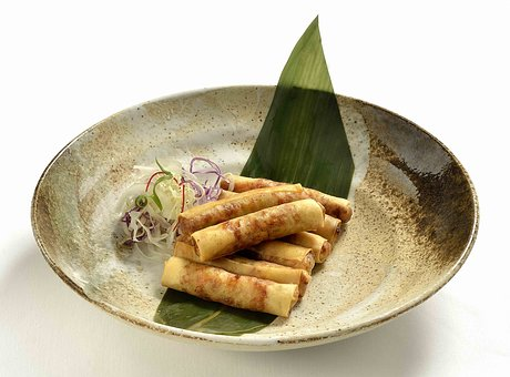Spring Rolls, Asian Food, Vegetable, Chinese, Cuisine