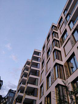 Oslo, Tjuvholmen, Architecture, House, Balcony, Modern