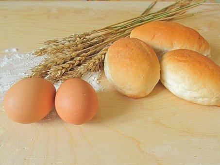 Buns, Eggs, Rye, Bake, Cook, Flour, Cooking, Kitchen