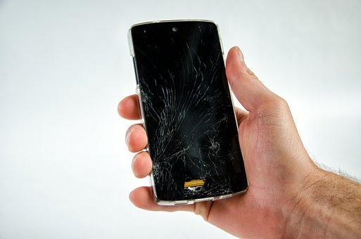 Smartphone, Broken, Damaged, Defect, Screen, Cellphone