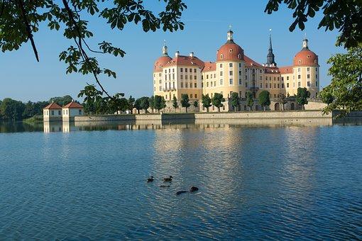 Moritz Castle, Dresden, Schlossgarten, Castle, Saxony