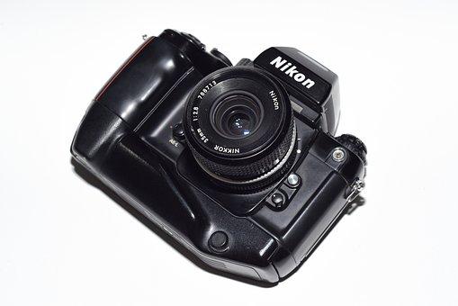 Nikon, Film Camera, Slr Camera, Nikon F4, Film
