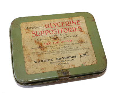 Tin, Suppositories, Glycerine, Torpedo, Pharmacy