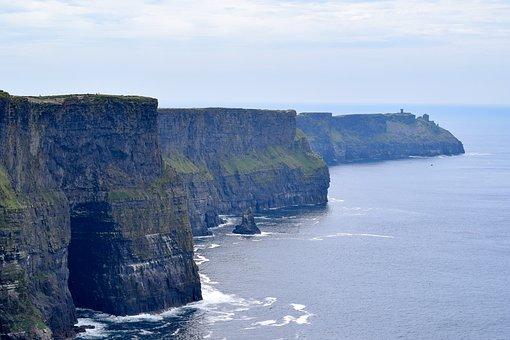 Cliff, Sea, Dramatic, Coastal, Ireland
