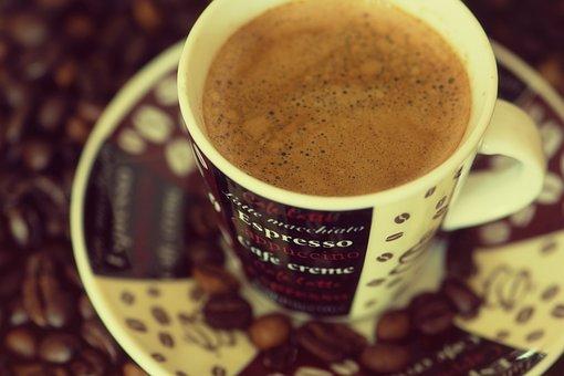Coffee, Espresso, Cup, Datailaufnahme, Kitchen, Saucer