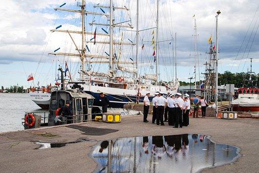 Finland, Helsinki, Ship, Sailing Boat, Mast, Sailors