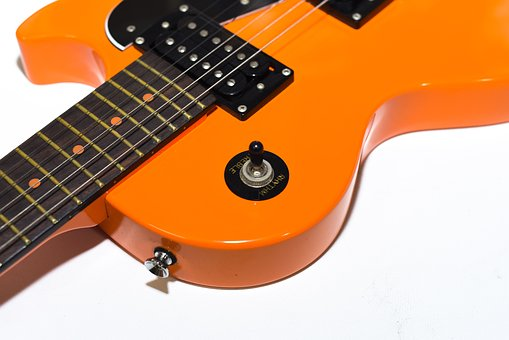 Electric Guitar, Orange, Guitar