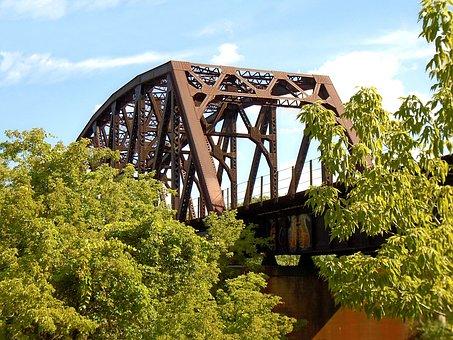 Train Trestle, Railway, Bridge, Railroad