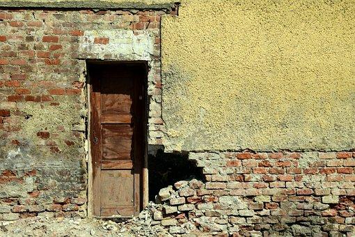 Ruin, House Facade, Broken, Old, Home, Building