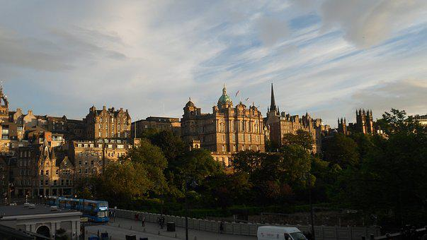 Scotland, City, Sky, Ancient, Landmark, Building