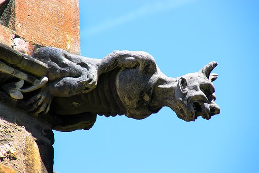 Gargoyle, Sculpture, Architecture, Cathedral, Statue