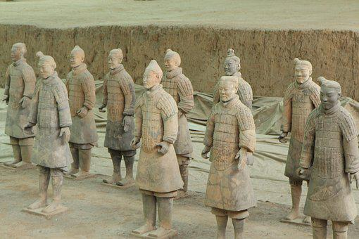 Terracotta Warriors, Xi'an, China, Army, Soldier