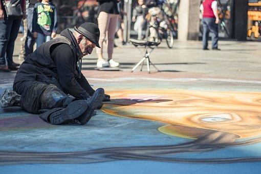 Person, Old Man, Artists, Artist, Painter, Street Art