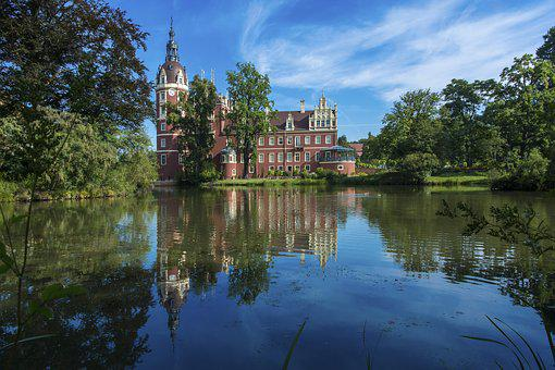 Bad Muskau, Castle, Moated Castle, Places Of Interest