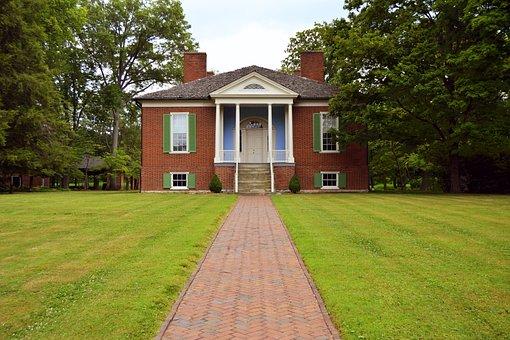 Plantation, Mansion, Big, Large, House, Tree, Estate