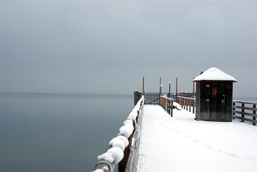 Winter, Lake, Web, Cold, Snow, Fog, Wintry, Frozen