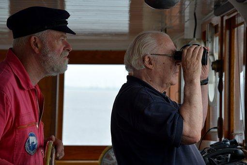 Human, Man, Captain, Tax Man, Steamboat, Icebreaker