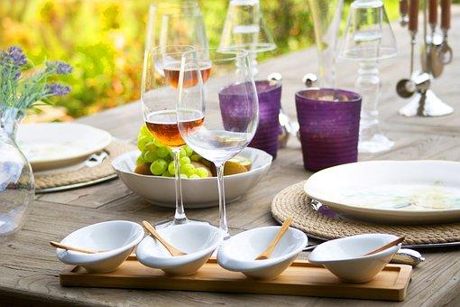 Table, Wine, Invite, Food, Champagne, Food Photo