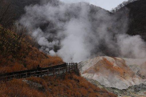 Noboribetsu Hell Valley, Volcano, Japan