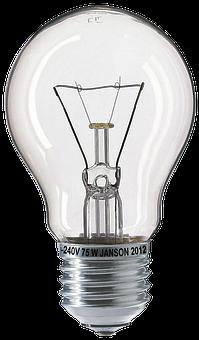 Light Bulb, Bulbs, Fragile, 75w, Glow Wire, Glass