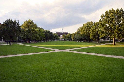 University, College, Campus, Main, Quad, Education