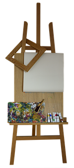 Stand, Easel, Frame, Canvas, A Variety Of, Palette
