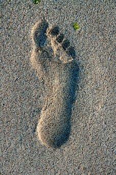 Lotus Feet Of The Guru, Lotus Feet, Guru, Sand, Reprint