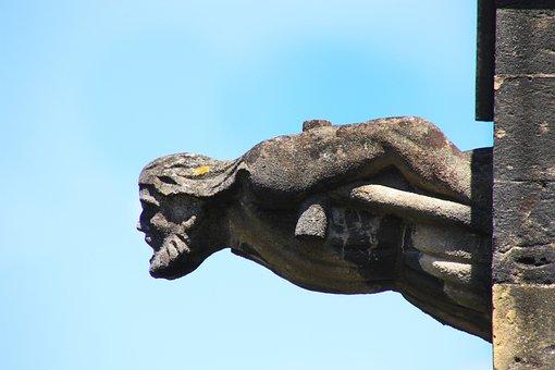 Gargoyle, Medieval, Cathedral, Sculpture, Stone, Gothic