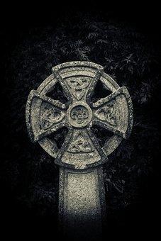 Celtic Cross, Grave, Cemetery, Graveyard, Celtic, Stone