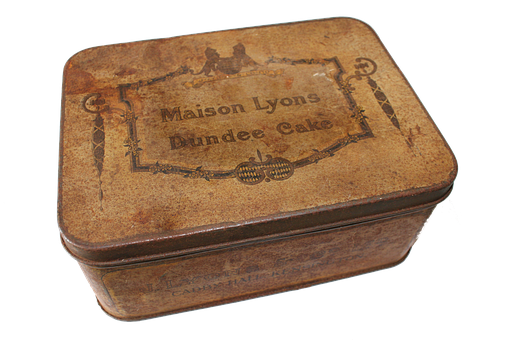 Tin, Cake, Png, Dundee, Snack, Food, Package, Old