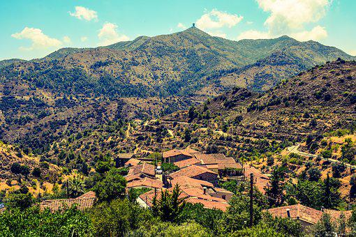 Cyprus, Lazanias, Village, Roofs, Architecture