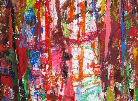 Paint, Childrens Art, Abstract, Art