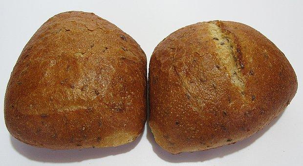 Roll, Rye, Caraway Bun, Rye Pastries, Caraway