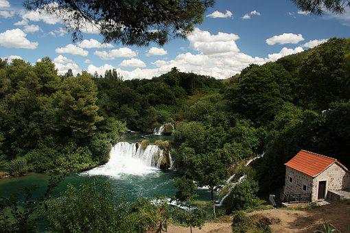 Waterfall, Croatia, Krka, Natural, Landscape