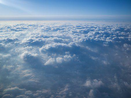 Sky, Blue, Cloud, Plane, Flying, Horizon, Vacation
