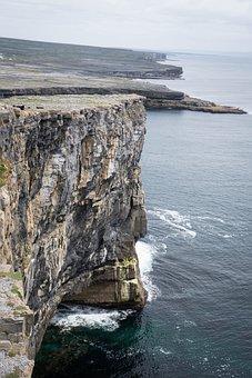 Cliff, Ireland, Sea, Rock, Coast, Nature, Water