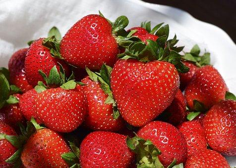 Strawberry, Strawberries, Fruit, Fresh, Red, Leaf