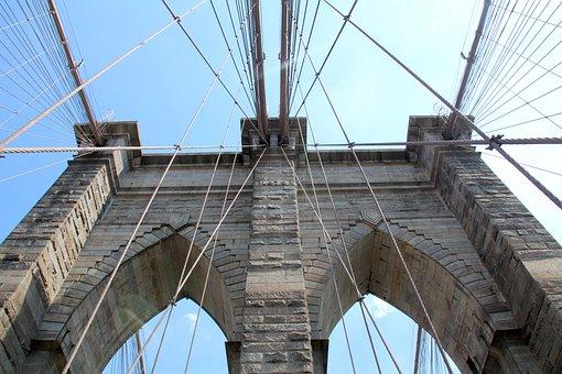 Nyc, United America, Usa, Brooklyn Bridge, Manhattan