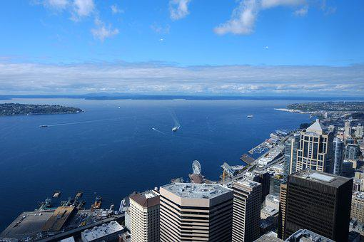 Marine, Panorama, Blue Sky, Overlooking The