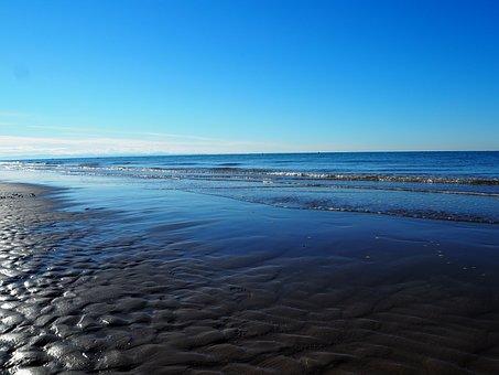 Ebb, Sea, Beach, Sunrise, Sand, Most Beach, Sand Beach