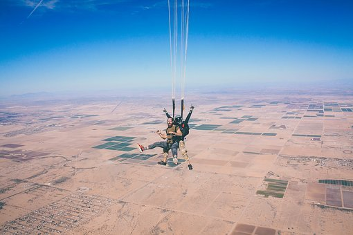 Skydiving, Parachute, Extreme, Sky, Skydiver
