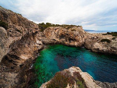 Mallorca, Portals Vels, Coast, Bank, Sea, Water, Nature