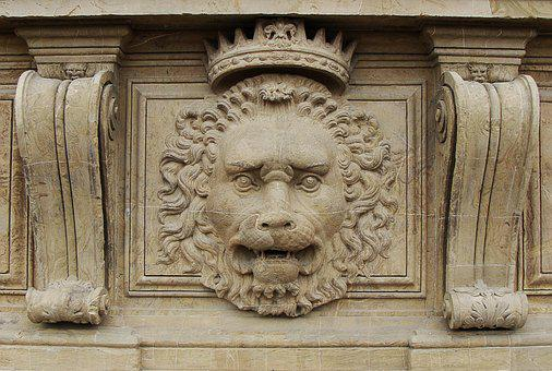 Lion, Relief, Royal, Palace, Decoration, Animal
