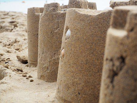 Sand, Sandburg, Build, Holiday, Beach, Sand Sculpture