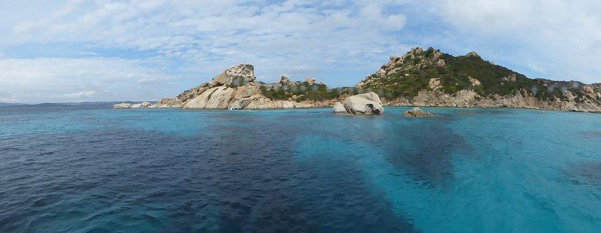 Sardinia, La Maddalena, Island, Sea, Italy, Rock, Coast