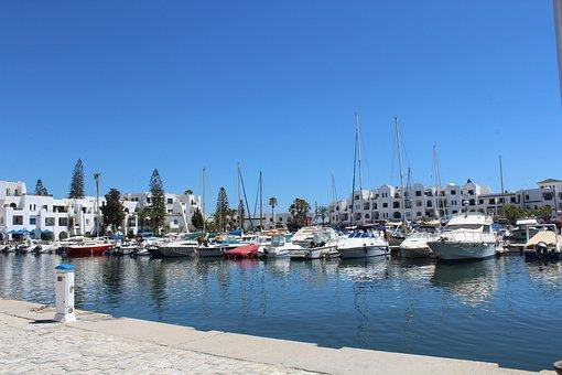 Tunisia, Port, Ship, Sea, Holidays