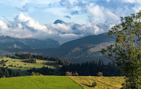 Mountains, Nature, Tatra, Landscape, Sky, Green