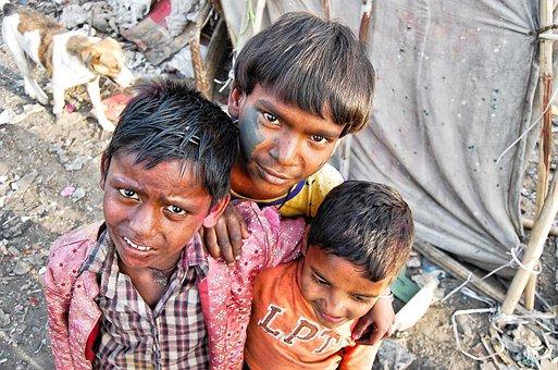 Poor, Slums, India, People, Kids, Culture, City